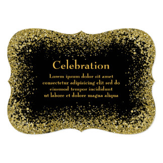 El negro/Goldish asperja la invitación de la