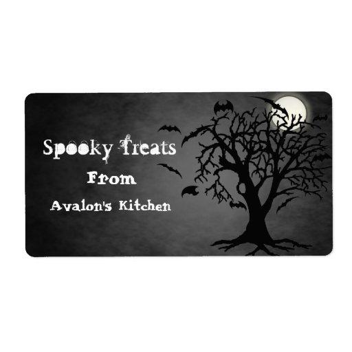 El negro golpea las invitaciones de Halloween que Etiqueta De Envío