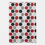 El negro gris rojo oscuro moderno circunda las toa toalla de mano