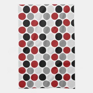 El negro gris rojo oscuro moderno circunda las toallas de mano