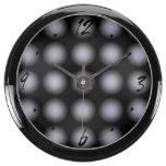 El negro gris se descolora reloj beta del fishbowl relojes aquavista