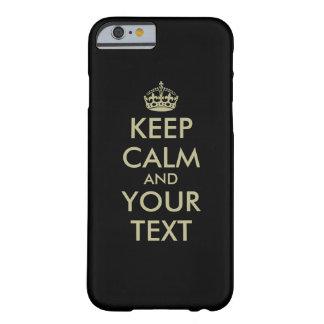 El negro guarda iPhone tranquilo 6 falsas letras Funda Para iPhone 6 Barely There