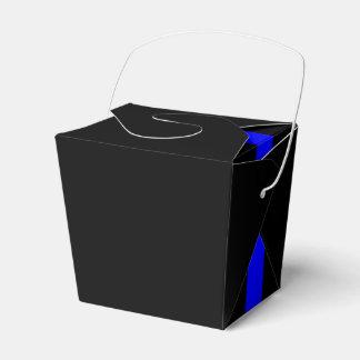 El negro horizontal fino simbólico de Blue Line Cajas Para Regalos De Fiestas