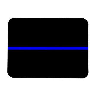 El negro horizontal fino simbólico de Blue Line Iman De Vinilo