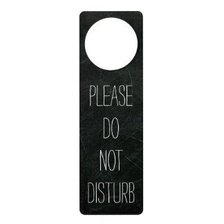 El negro no perturba la muestra de la suspensión colgador para puerta