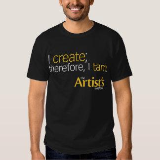 El negro para hombre T de la revista del artista Playeras