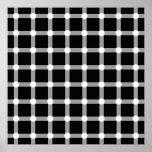 El negro puntea la línea blanca ilusión óptica del posters