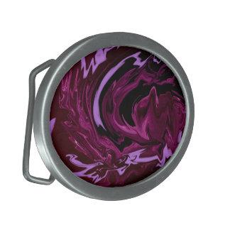 El negro púrpura remolina hebilla del cinturón hebilla cinturón oval