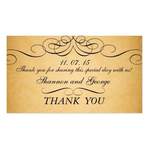 El negro remolina etiqueta del favor del boda del  tarjeta de visita