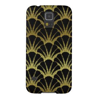 El negro retro del art déco/el oro Shell escala el Carcasas Para Galaxy S5