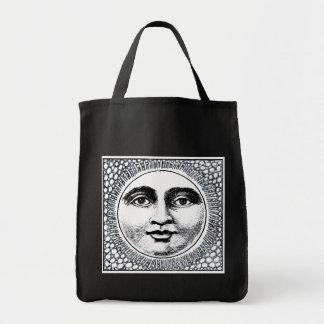 El negro reutilizable del tote del tendero con Sun Bolsa Tela Para La Compra
