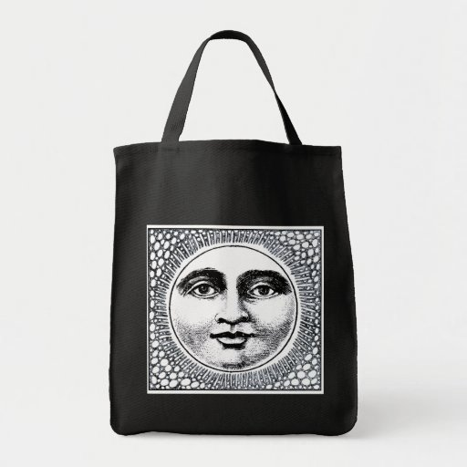 El negro reutilizable del tote del tendero con Sun Bolsas De Mano