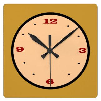 El negro rojo amarillo llano >Kitchen el reloj