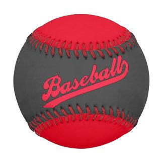 El negro rojo impresionante se divierte béisbol