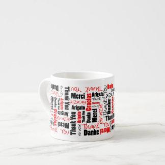 El negro rojo le agradece redactar la nube taza espresso