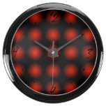 El negro rojo se descolora reloj beta del fishbowl relojes aqua clock