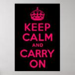 El negro rosado guarda calma y continúa poster