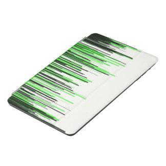 El negro verde alinea la mini cubierta de Ipad