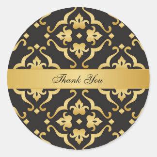 El negro y el boda del damasco del oro le agradece