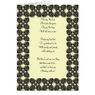 el negro y el limón sean mi tarjeta del bridemaid