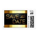 El negro y el oro ahorran la fecha timbres postales