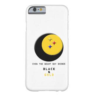 El negro y el oro está incluso en la caja del funda barely there iPhone 6