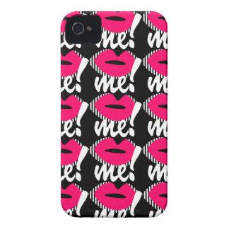 El negro y el rosa me besan caja de la casamata de Case-Mate iPhone 4 coberturas