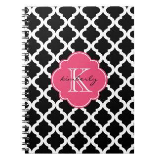 El negro y el rosa se ruborizan impresión de cuaderno