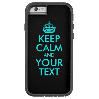 El negro y la aguamarina guardan calma y su texto funda de iPhone 6 tough xtreme