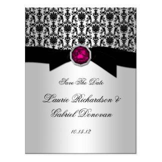 El negro y la joya rosada del Tourmaline de la pla