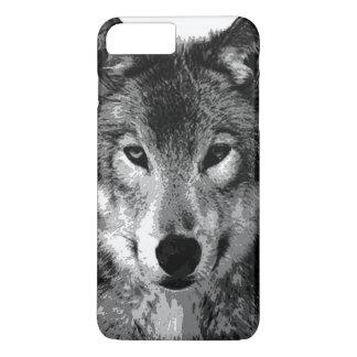 El negro y White Wolf observa el caso más del Funda iPhone 7 Plus