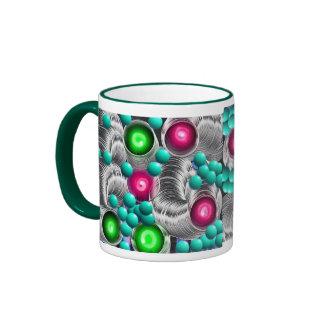 El neón brillante y alegre colorea la taza