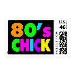 El neón colorea el polluelo de los años 80