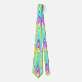 El neón coloreado agita el modelo inconsútil de corbata personalizada