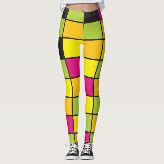 El neón coloreado ajusta brillantemente el modelo leggings