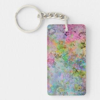 El neón colorido fresco colorea imagen de mármol a llaveros