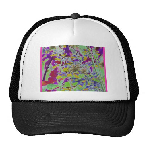 El neón convirtió el fondo del diseño a digital fl gorras de camionero