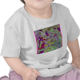El neón convirtió el fondo del diseño a digital camiseta