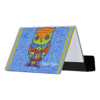 El neón de la diversión colorea las fronteras caja de tarjetas de visita para escritorio