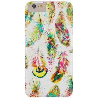 El neón de moda fresco de la acuarela salpica funda de iPhone 6 plus barely there