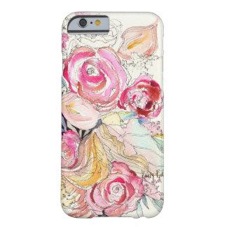 El neón florece caso del iPhone 6