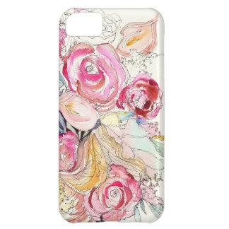 El neón florece caso del iPhone
