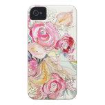 El neón florece caso del iPhone iPhone 4 Protector
