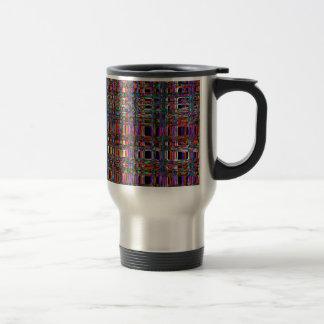 El neón que brilla intensamente abstracto alinea taza térmica