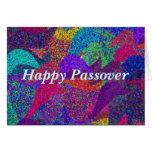 El neón sale de la tarjeta feliz del Passover