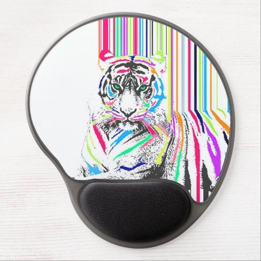el neón vibrante colorido de moda raya dolor del alfombrilla de raton con gel