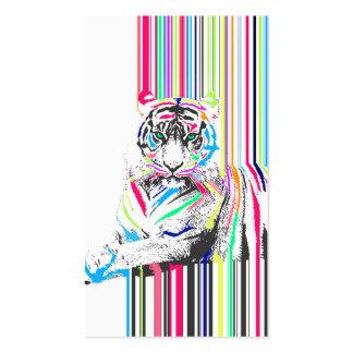 el neón vibrante colorido de moda raya dolor del tarjetas de visita