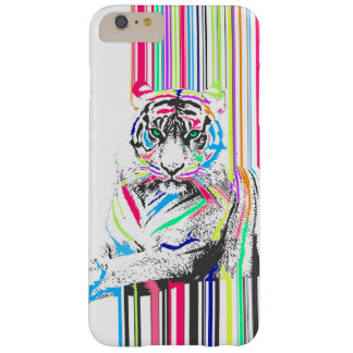 el neón vibrante colorido de moda raya la pintura funda de iPhone 6 plus barely there