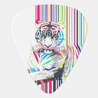 el neón vibrante colorido de moda raya la pintura plectro