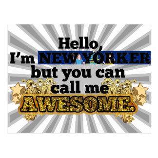 El neoyorquino, pero me llama impresionante tarjetas postales